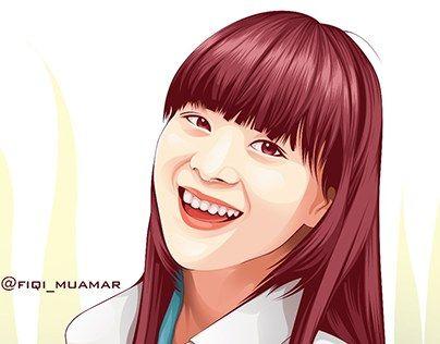 """fan art cindy yuvia jkt48 vector vexel cartoon version"" http://be.net/gallery/40448705/fan-art-cindy-yuvia-jkt48-cartoon-version"