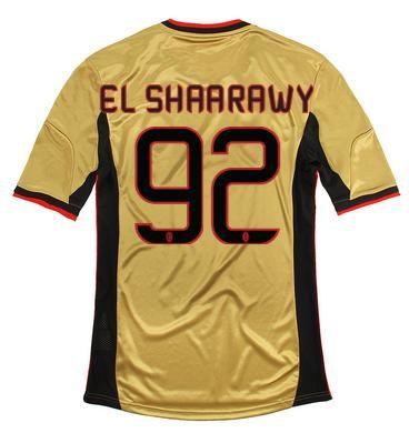 Maillot de Foot AC Milan (92 El Shaarawy) Third 2013 2014 jaune Pas Cher