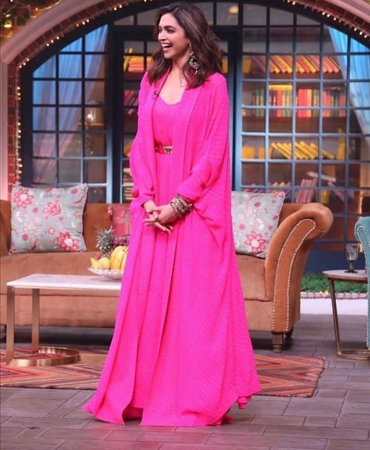 Deepika Padukone On The Sets Of Kapil Sharma Show Mumbai Today For The Chhapaak Promotion Stylish Dresses Celebrity Fashion Looks Indian Party Wear