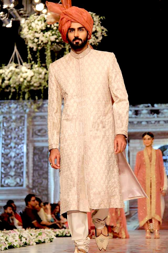 Sherwani with Pagri.