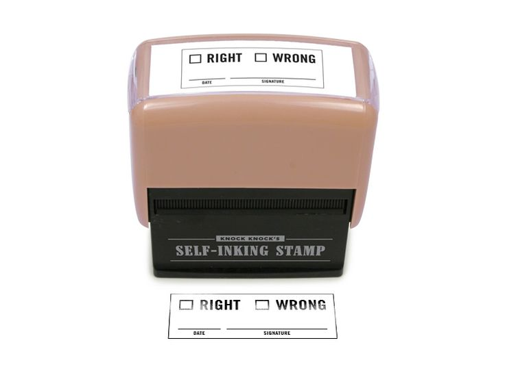 Right / Wrong Office Stamp