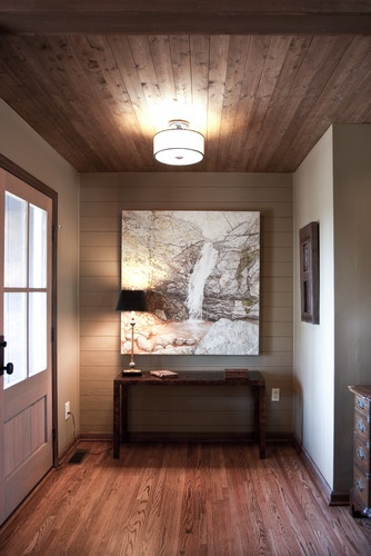 Informal entry  entry: Decoration, Architecture Interiors, Lighting Fixtures, Ceilings Design, Front Doors, Information Entry, Small Spaces, Design Idea, Woods Ceilings