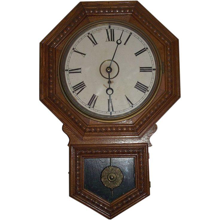 Gilbert Quot Admiral Quot Short Drop Octagon Top Schoolhouse Clock