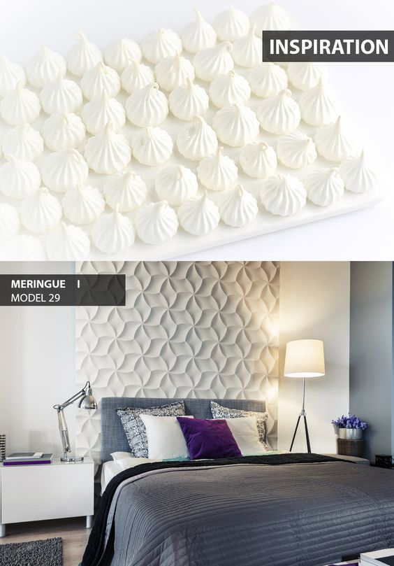 Meringue - model 29 - Inspiration. Click at the photo to get more information or to visit our website.  #LoftDesignSystem #Decorativepanels #Inspiration #Interior #Design #wallpanels #3Ddecorativepanels #3dpanels #3dwallpanels #house #home #homedesign #Decorations #homedecorations #meringue #bedroom #salon #livingroom