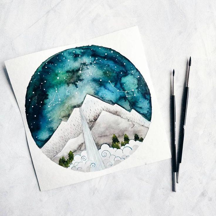 Три года я не была в горах уже забыла, что такое свежий лесной воздух и невероятно яркие звезды...@anyuta_bird спасибо за заказ, теперь я хочу в горы