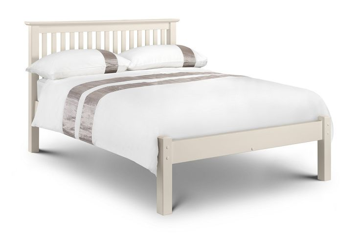 Bonsoni Berlin Bed Stone White 4ft Small Double Bed Frame Low Foot End  This Berlin Bed Lfe Stone White 120Cm An imposing bed frame made from solid pine and MDF in an immaculate stone white lacquered finish.  https://www.bonsoni.com/berlin-bed-stone-white-4ft-small-double-bed-frame-low-foot-end