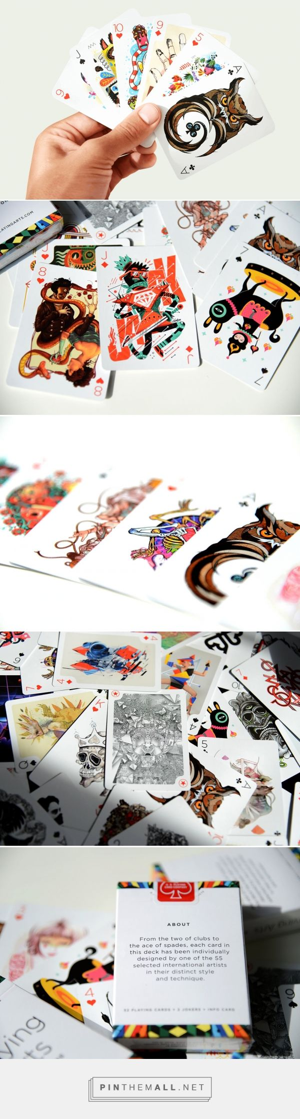 Beautiful Full-Color Deck of Playing Cards Illustrated by 55 Artists