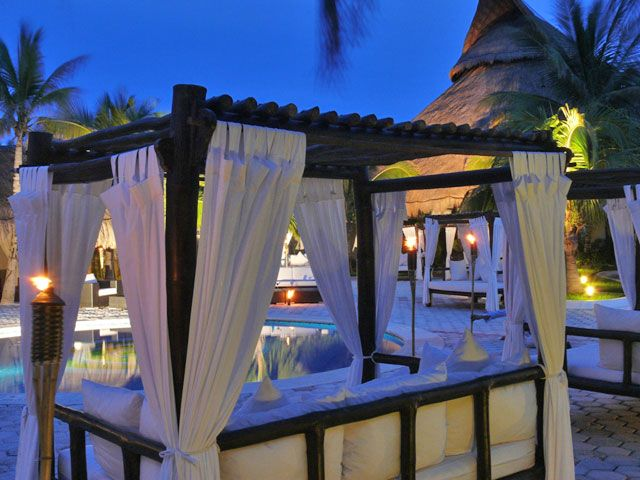 Pure Chill area at Catalonia Royal Tulum. Loved to chill out there..