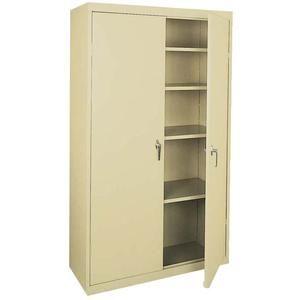 White value line series cabinet w adjustable shelves 36 for Adjustable shelves for kitchen cabinets