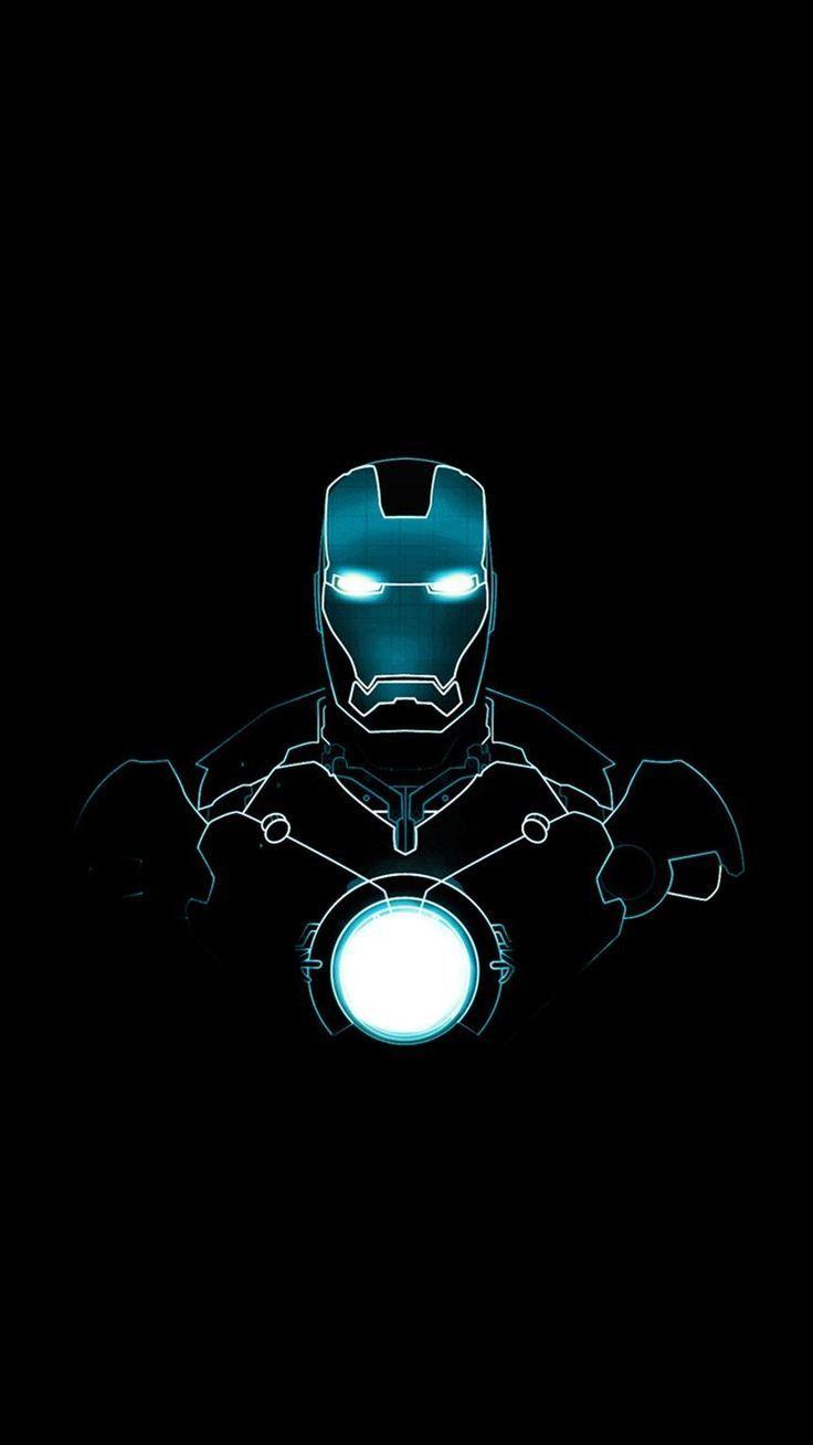 Iron Man Glow In The Dark Design Wallpaper Ponsel Gambar Seni