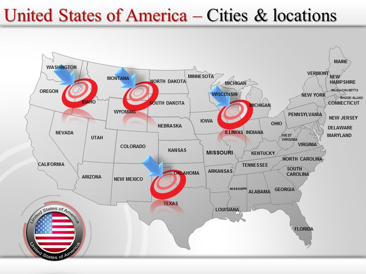 Best Creative PowerPoint Maps Online Images On Pinterest - Us map editable in powerpoint