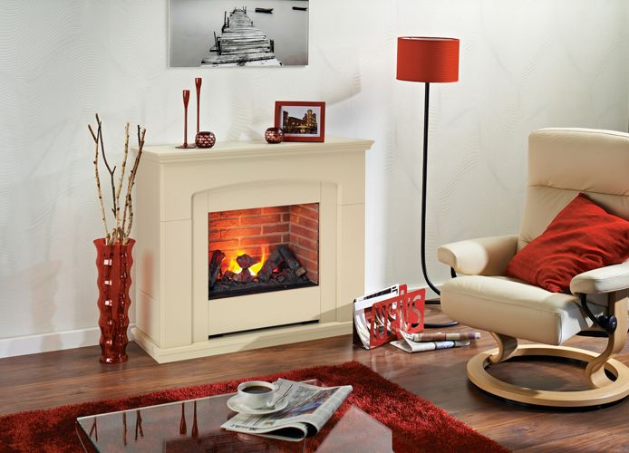 Our Alameda electric fire with mantle suite is an alluring centrepiece to any home. Feature the ultra real 3D effect of smoke and flames as a focal point of your interior design, independently of the heat output.