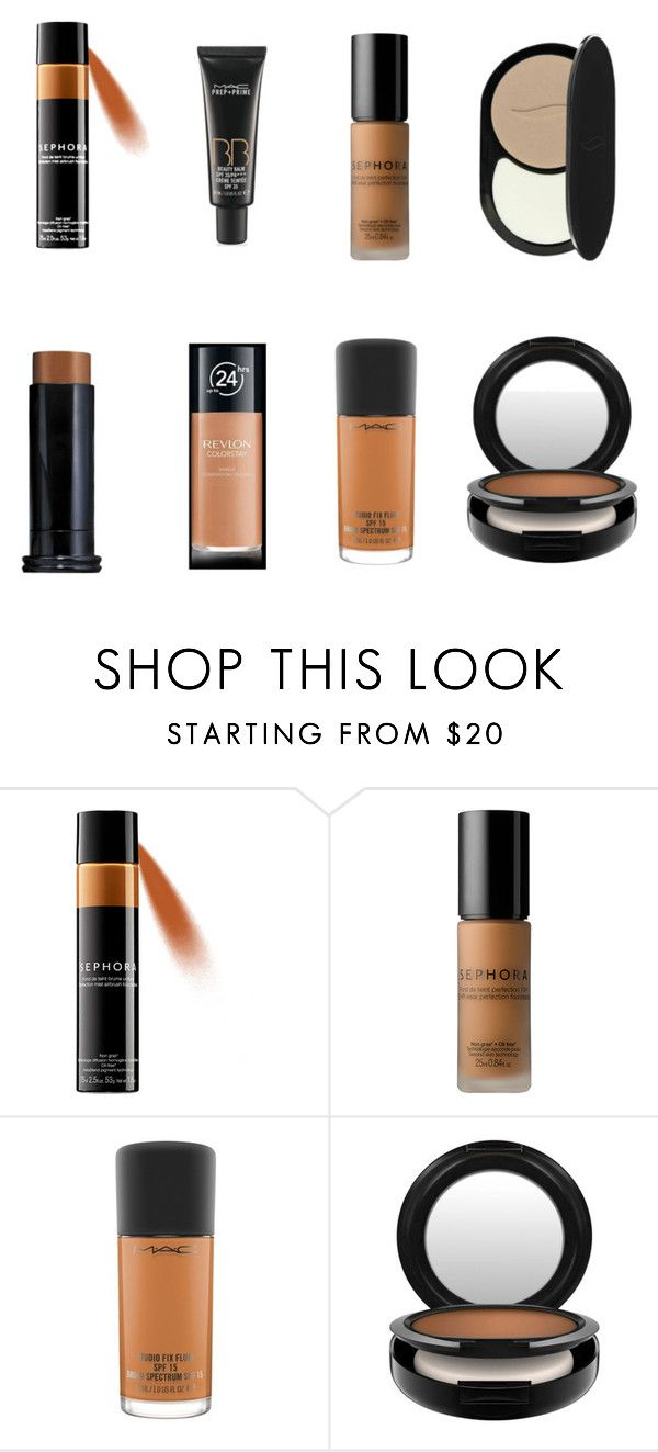 """Summer vs. Fall Foundation Favorites"" by cagreinvented on Polyvore featuring beauty, Sephora Collection, Revlon and MAC Cosmetics"