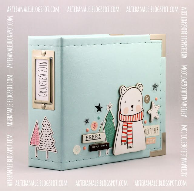CTMH has a 6x8 album the same color as this and lots of embellishments that could be used in the Oh Deer or City Sidewalk collections.