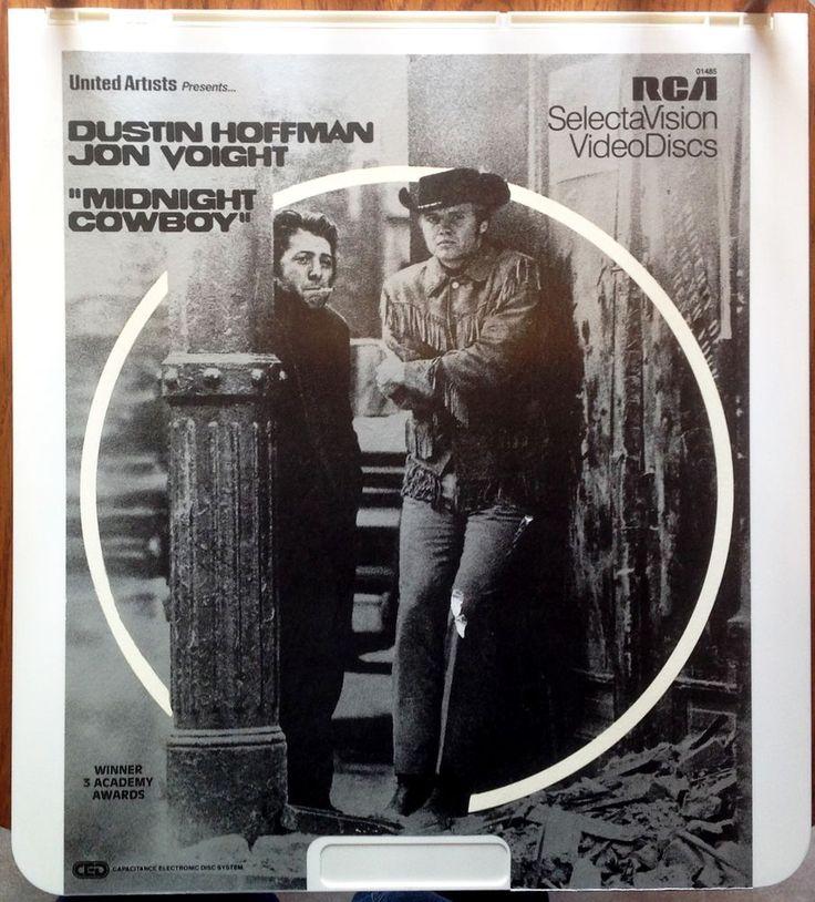 """Midnight Cowboy"" Vintage Video Disc CED - Dustin Hoffman / Jon Voight EUC"