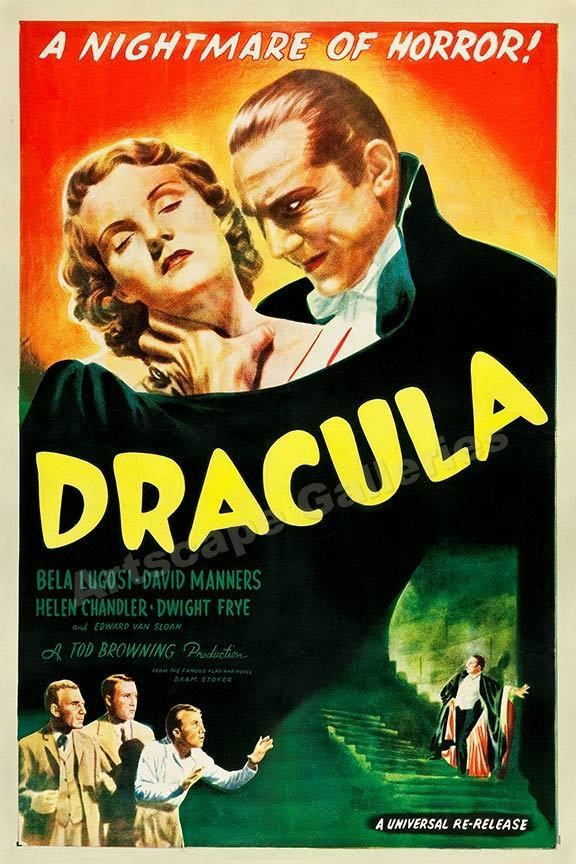 Dracula 1947 Old Vintage Horror Movie Poster - 24x36 #Vintage