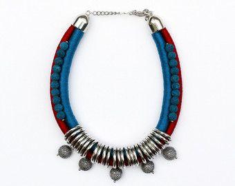 Ähnliche Artikel wie Anweisung Seil Halskette-Collier-Fashion Halskette auf Etsy