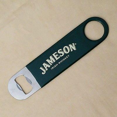 """Jameson Bartender Bottle Opener Irish Whiskey Green Rubber Coated 7"""" x 1.5"""""""