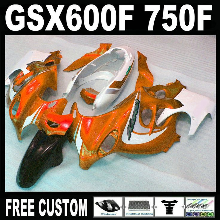Aftermarket body parts fairing kit for Suzuki GSX600F 750F 95 96 97 98-05 orange white black fairings set GSX600F 1995-2005 MH17