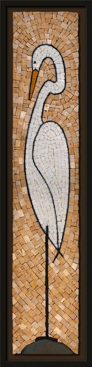 STONE FOLIO MOSAICS - Great Egret
