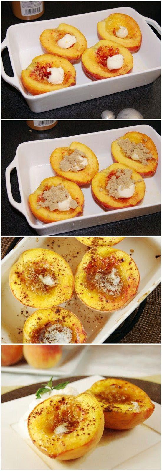 Brown Sugar Baked Peaches | FoodJino