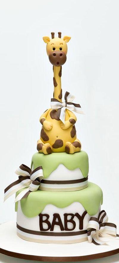 Baby Shower Cake. Via: http://suganana.com.au/                                                                                                                                                      More