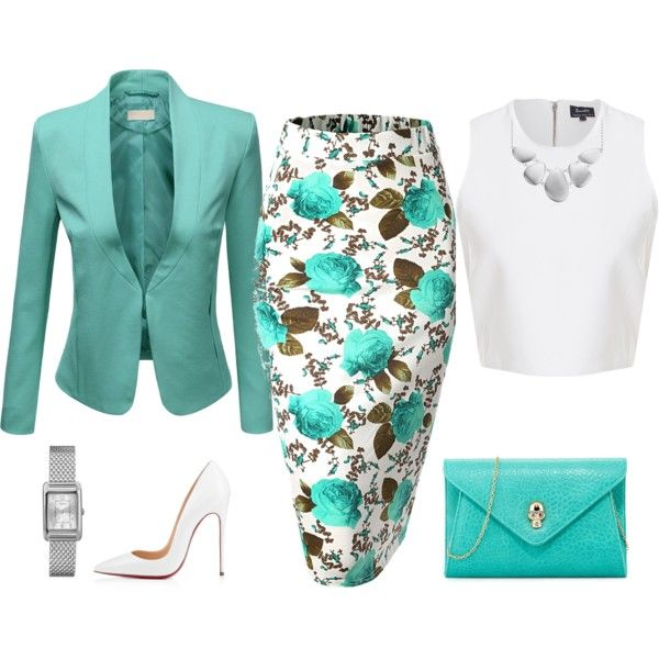 flower skirt by natalyag on Polyvore featuring polyvore, fashion, style, J.TOMSON, Urban Originals, Timex and Blue Nile