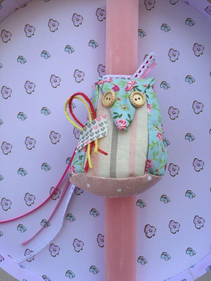 Αρωματική λαμπάδα κουκουβάγια! www.facebook.com/handmadecreationsbydora