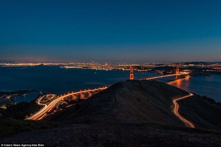 View of San Francisco Bay from  Slackers Hill just before Trident missiles zoomed into the scene... November 7 2015.
