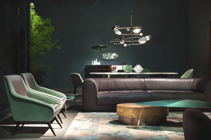 Sofa Baxter    Budapest Sofa 300x140cm in grau von Paola Navone - design sofa moderne sitzmobel italien