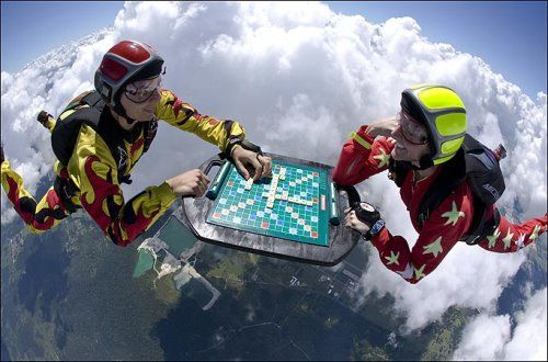 Skydiving chess