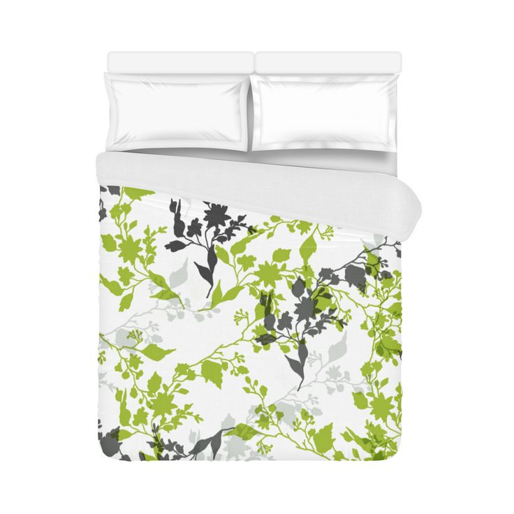 "Branches with leaves Duvet Cover 86""x70"" ( All-over-print)"