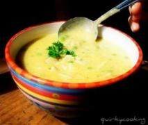 Creamy Chicken & Brown Rice Soup / thermomix