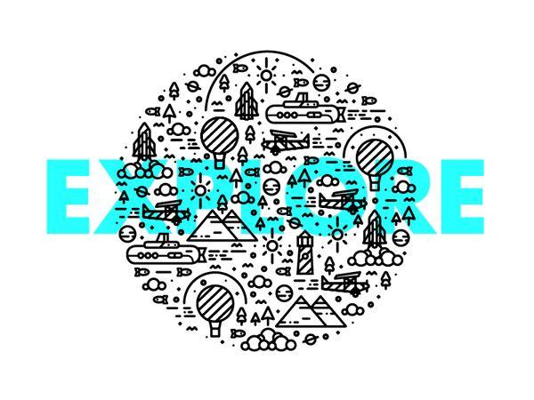 E-X-P-L-O-R-E on Behance