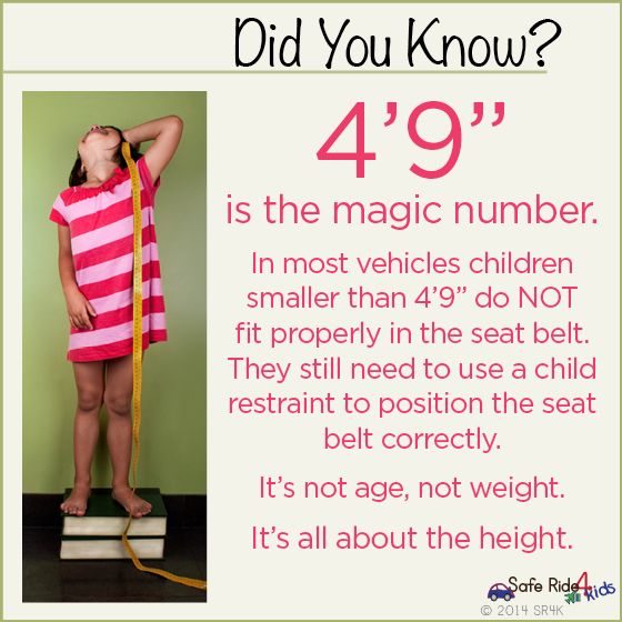 Height And Weight Limit For Car Seats