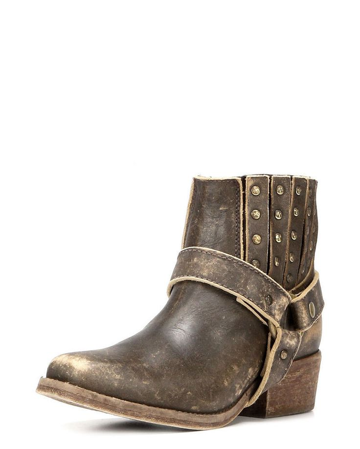 Circle G By Corral Ladies Leather Cowgirl Western Ankle Boots Cognac P5037 #CorralBoots #CowboyWestern