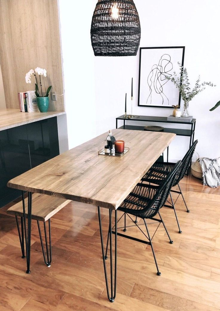 Reclaimed Wood Metal Dining Table Etsy In 2021 Simple Dining Table Dining Table With Bench Metal Dining Table