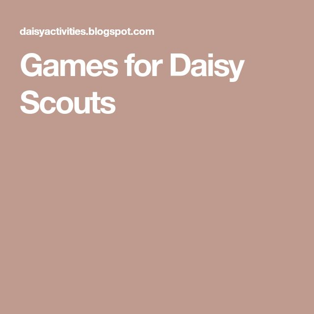 Games for Daisy Scouts