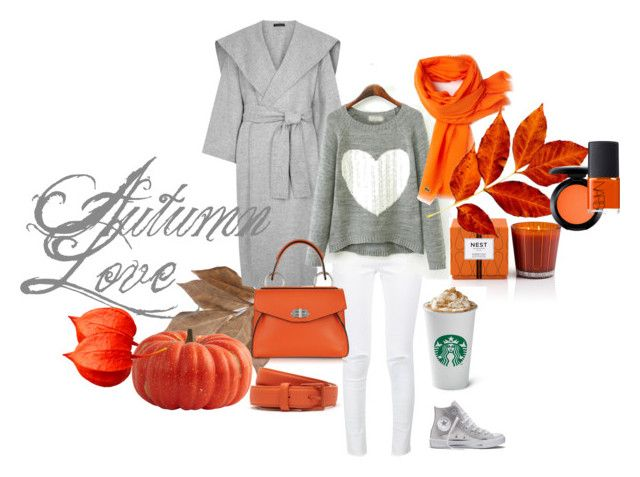 """""""autumn love"""" by slavulienka ❤ liked on Polyvore featuring Bliss Studio, Converse, Anine Bing, The Row, Lacoste, Nest Fragrances, Proenza Schouler, MAC Cosmetics and NARS Cosmetics"""