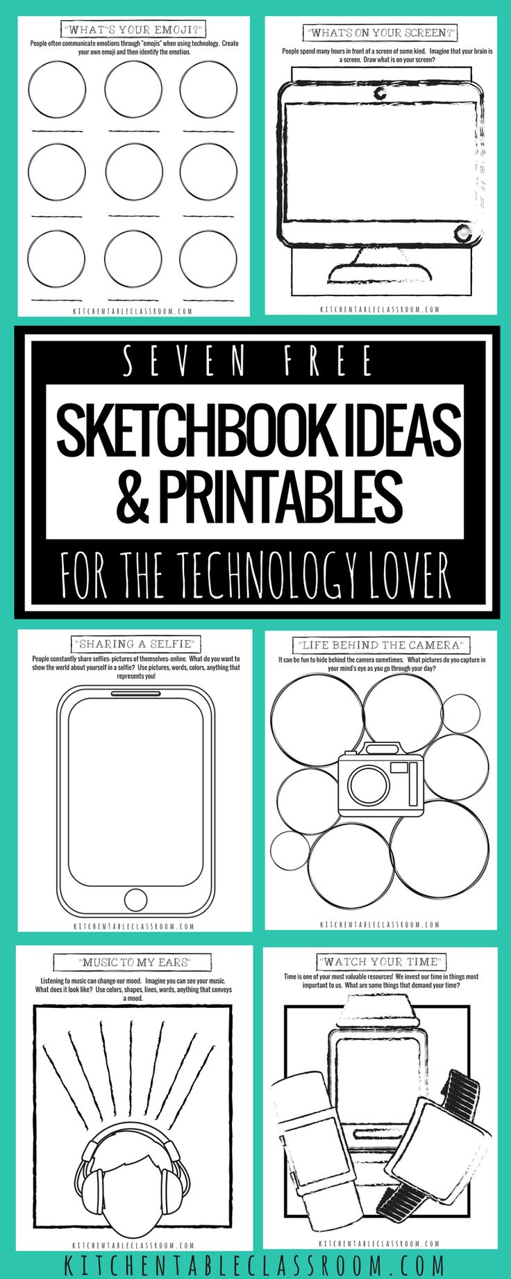 Sketchbook Concepts and Printables for the Expertise Lover