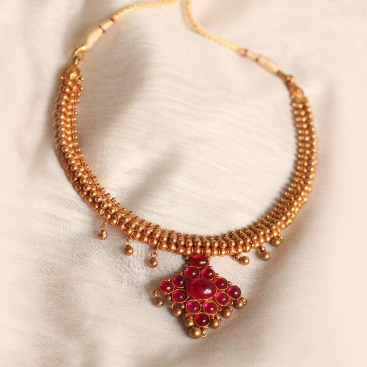 Divya Choker Necklace with Pendant(Malini)