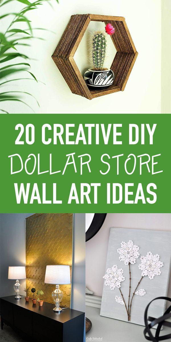 20 kreative DIY Dollar Store Wandkunst Ideen – #diydecorations #diymaquillaje
