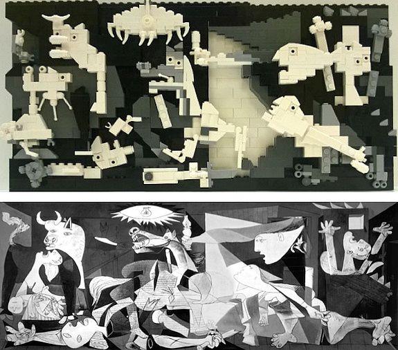chef d'oeuvre de Picasso entièrement recréé en Lego ?  AU SUIVANT