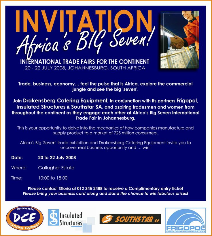 Africa's big seven invite