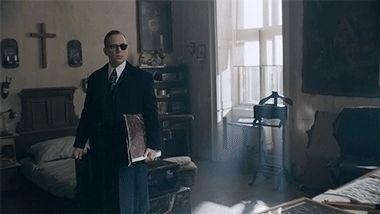 "Gifs of Tom Wlaschiha from ""Maigret"" with Rowan Atkinson"