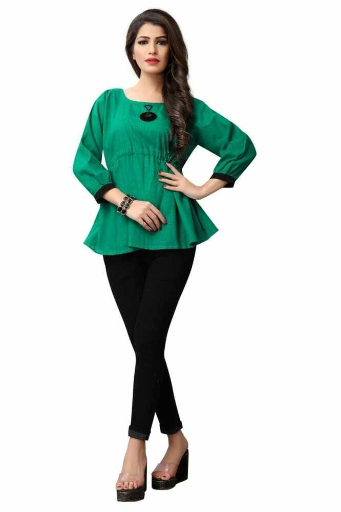 Girl Fancy TOP Summer Wear Top Green Color*** TOP / T shirts Cotton Tops G  7-3 #Unbranded #TShirt #Casual   Fancy tops, Cotton tops, Summer wear