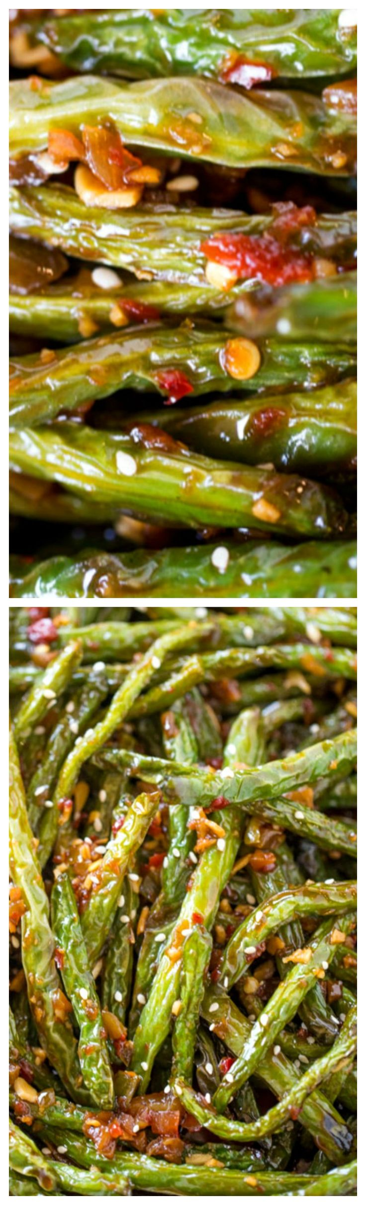 Spicy Chinese Sichuan Green Beans ~ The perfect easy side dish to your favorite Chinese meal and they're a breeze to make with just a few ingredients.