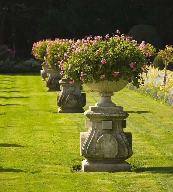 The formal gardens of Chateau Chenonceau, Loire Valley, France