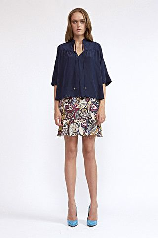 SHOP: http://www.cocoribbon.com/ This boldly-patterned skirt is flirty and feminine and suits all body types. Sits high on the waist and flares at the hem. Ideal for brunch, weekend gallery trips or a fashion-forward office. The skirt calls for pumps (we love nude-coloured ones) to lengthen the silhouette.
