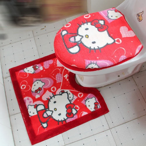 Hello Kitty Bath Rug Mat Toilet Seat Cover 3pc Set 2937. 1000  ideas about Bath Rugs  amp  Mats on Pinterest   Knitting